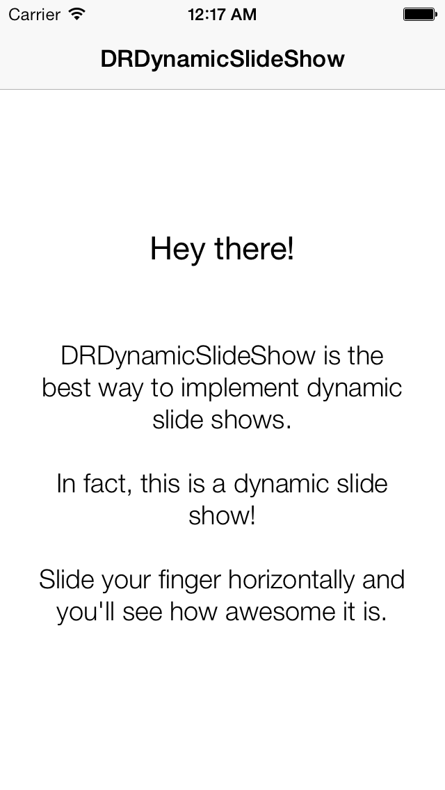 DRDynamicSlideShow screenshot