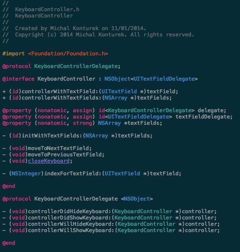 KeyboardController screenshot