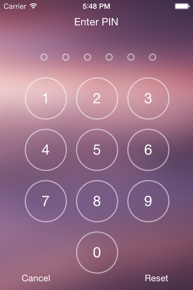 PinPad screenshot