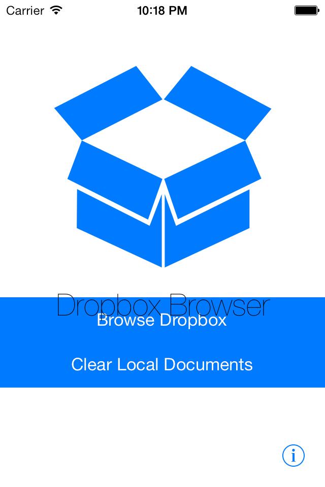 DropboxBrowser screenshot