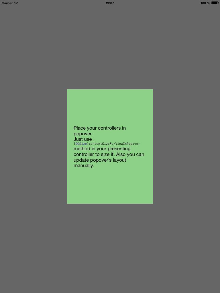 ARSPopoverController screenshot