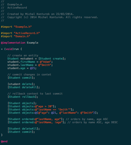 ActiveRecord screenshot