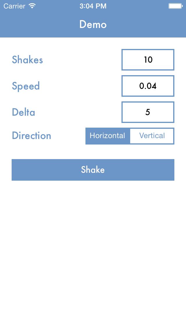 UIView+Shake screenshot