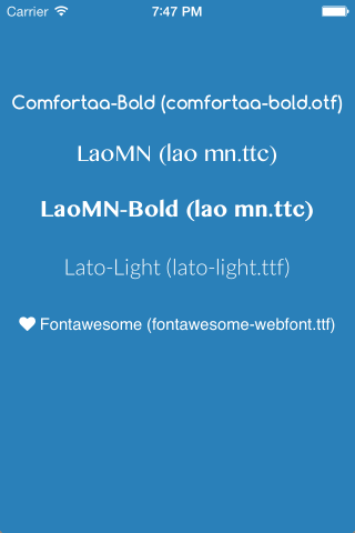UIFontWDCustomLoader screenshot