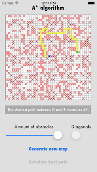 A* Algorithm screenshot