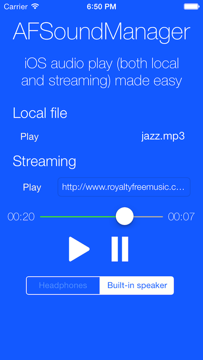 AFSoundManager screenshot