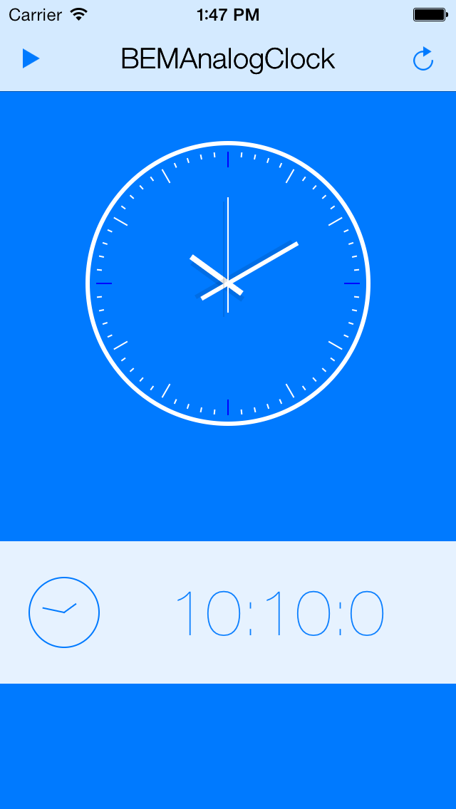 BEMAnalogClock screenshot