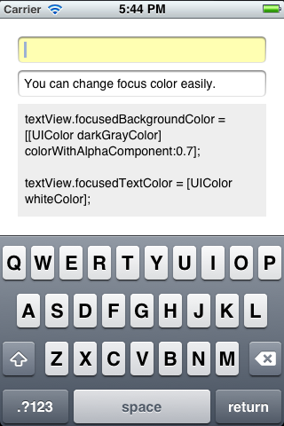 FocusColorTextField screenshot