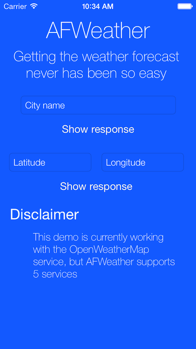 AFWeather screenshot