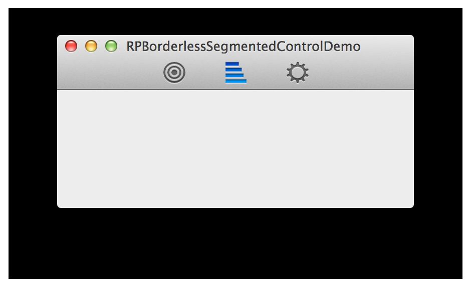 RPBorderlessSegmentedControl screenshot