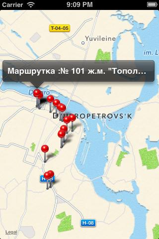 Transit.in.ua Data Model and Loader screenshot