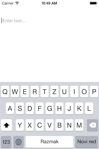 LPlaceholderTextView screenshot