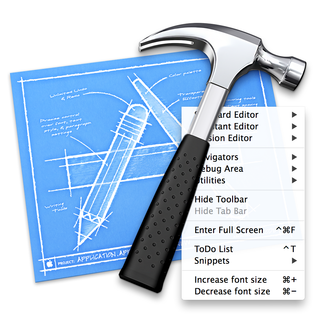 AdjustFontSize-Xcode-Plugin screenshot