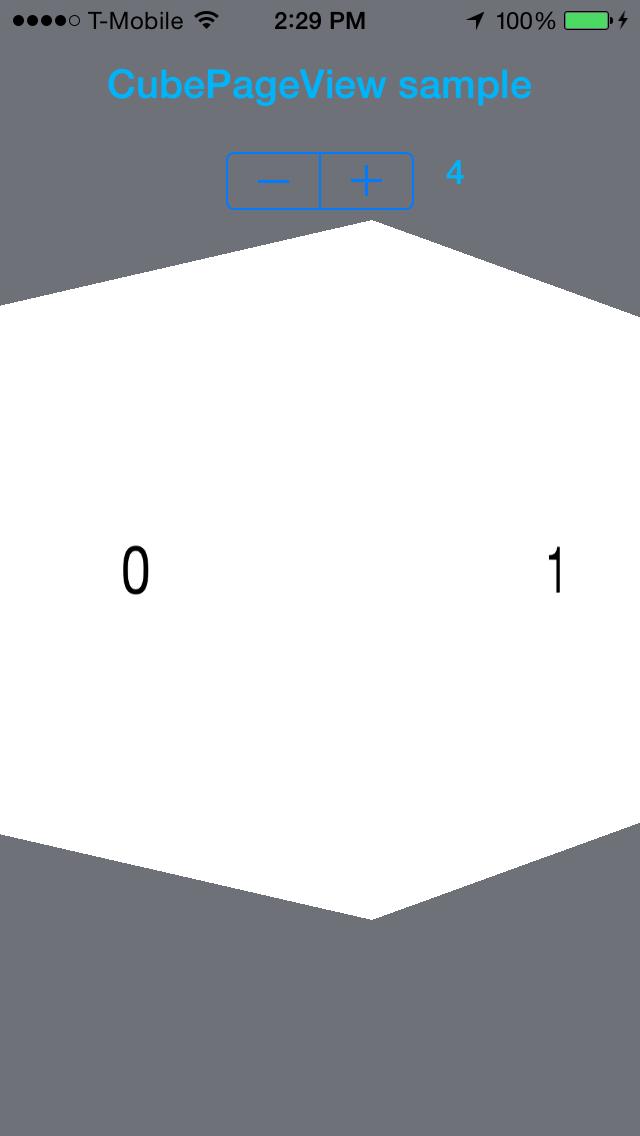 CubePageView screenshot
