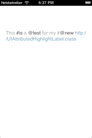 AMAttributedHighlightLabel screenshot