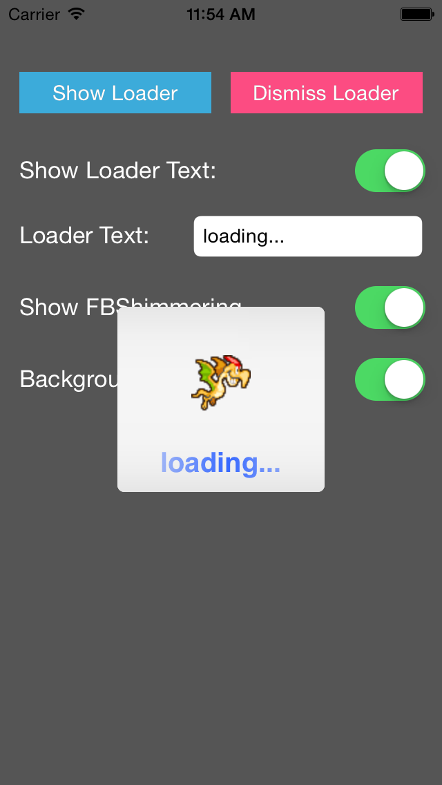 YXSpritesLoadingView screenshot