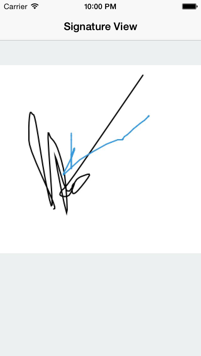 SignatureView screenshot