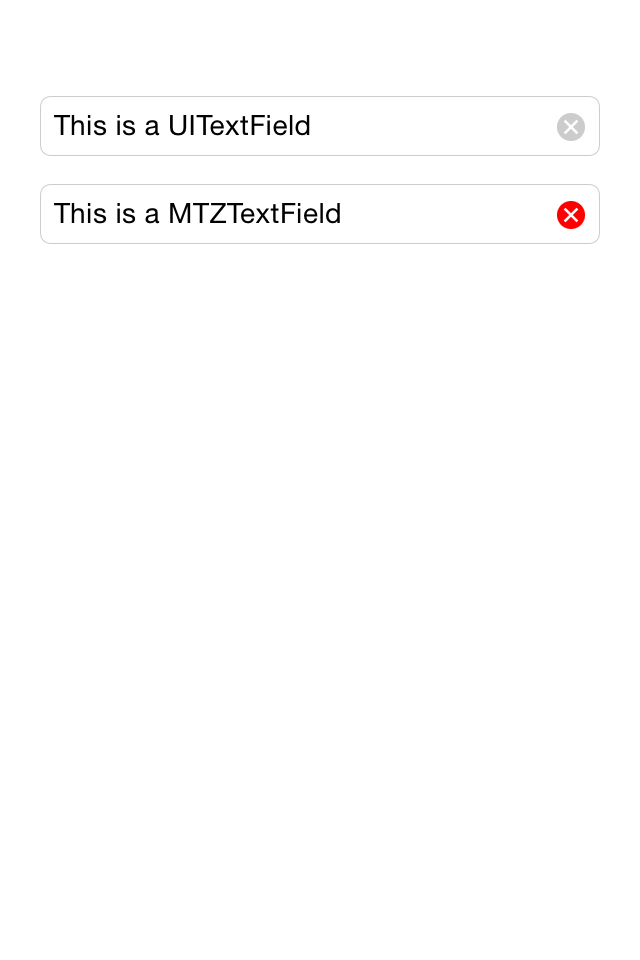 MTZTextField screenshot