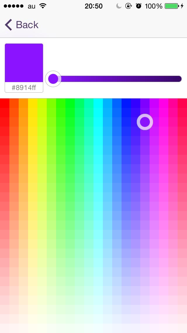 HRColorPicker screenshot