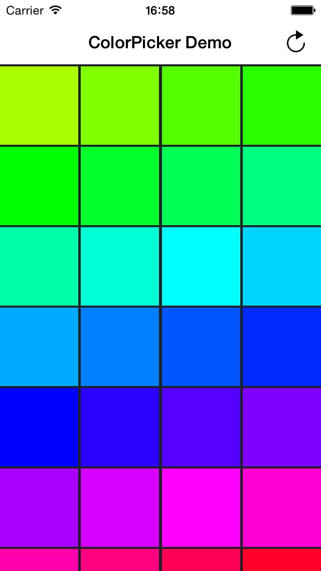 CHColorPickerView screenshot