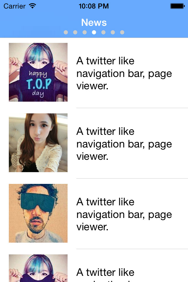 TwitterPagingViewer screenshot