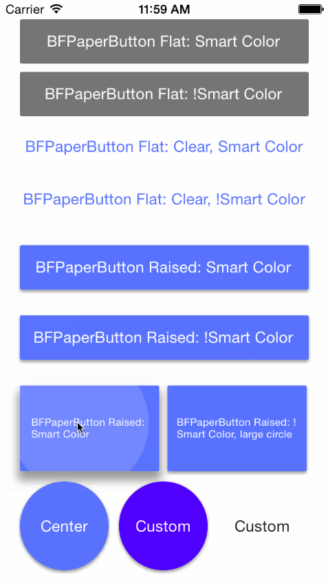 BFPaperButton screenshot