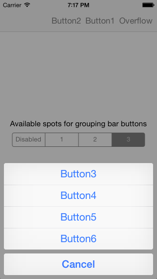 UIBarButtonItemGrouping screenshot