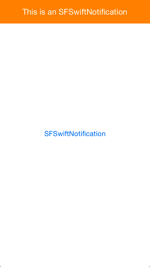 SFSwiftNotification screenshot