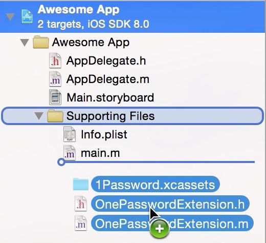 1Password App Extension screenshot