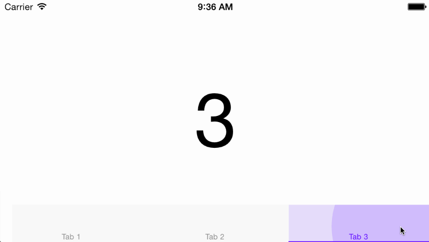 BFPaperTabBar screenshot