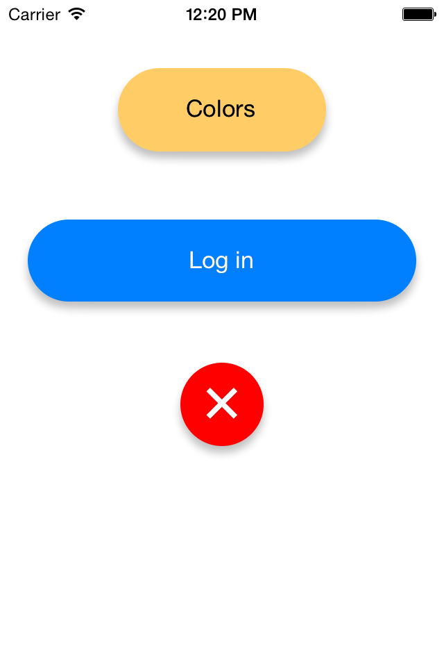 KBRoundedButton screenshot