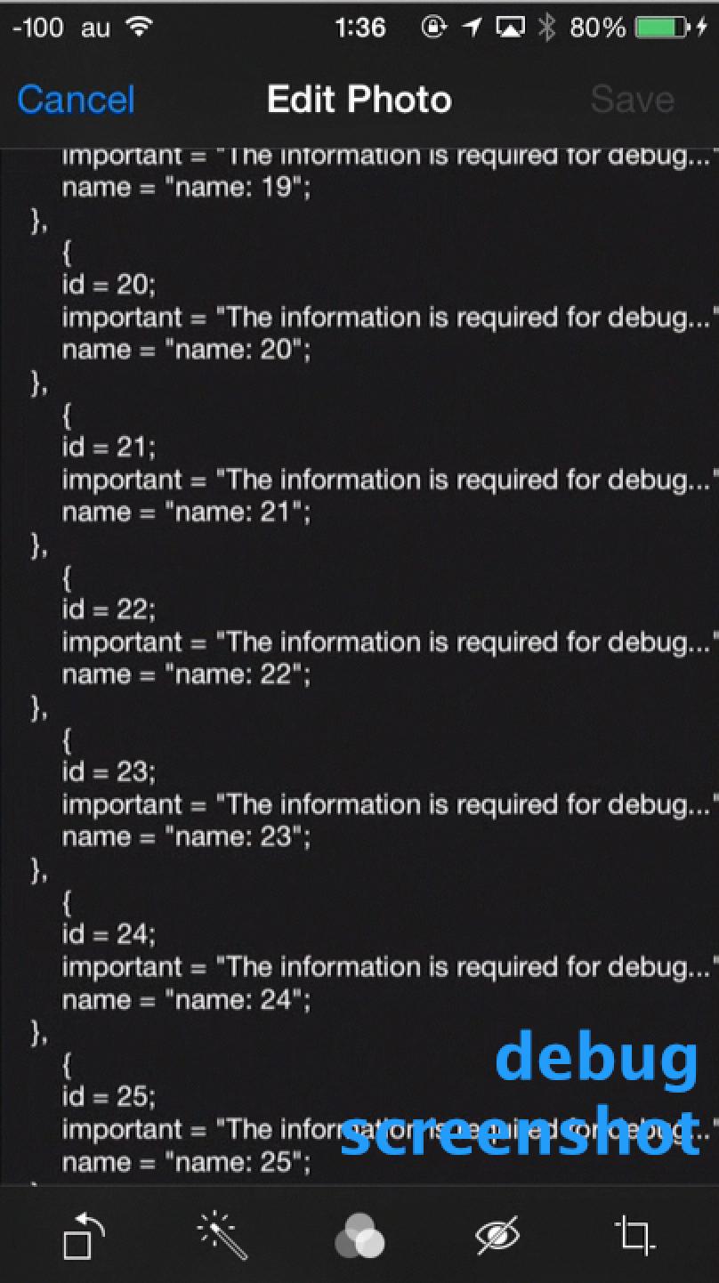DFTDebugScreenshot screenshot