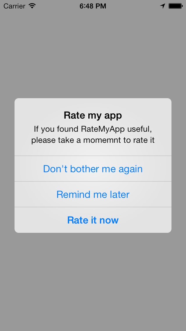 RateMyApp (Swift) screenshot