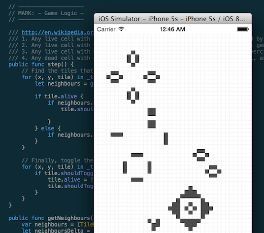 Conway's Game of Life screenshot