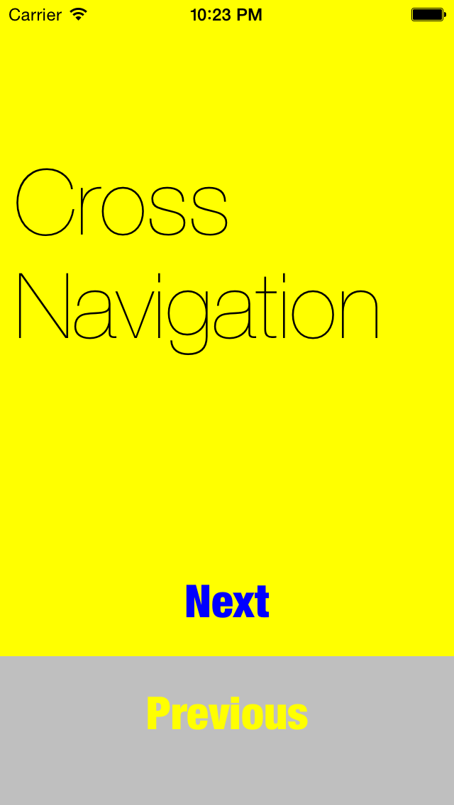 CrossNavigation screenshot