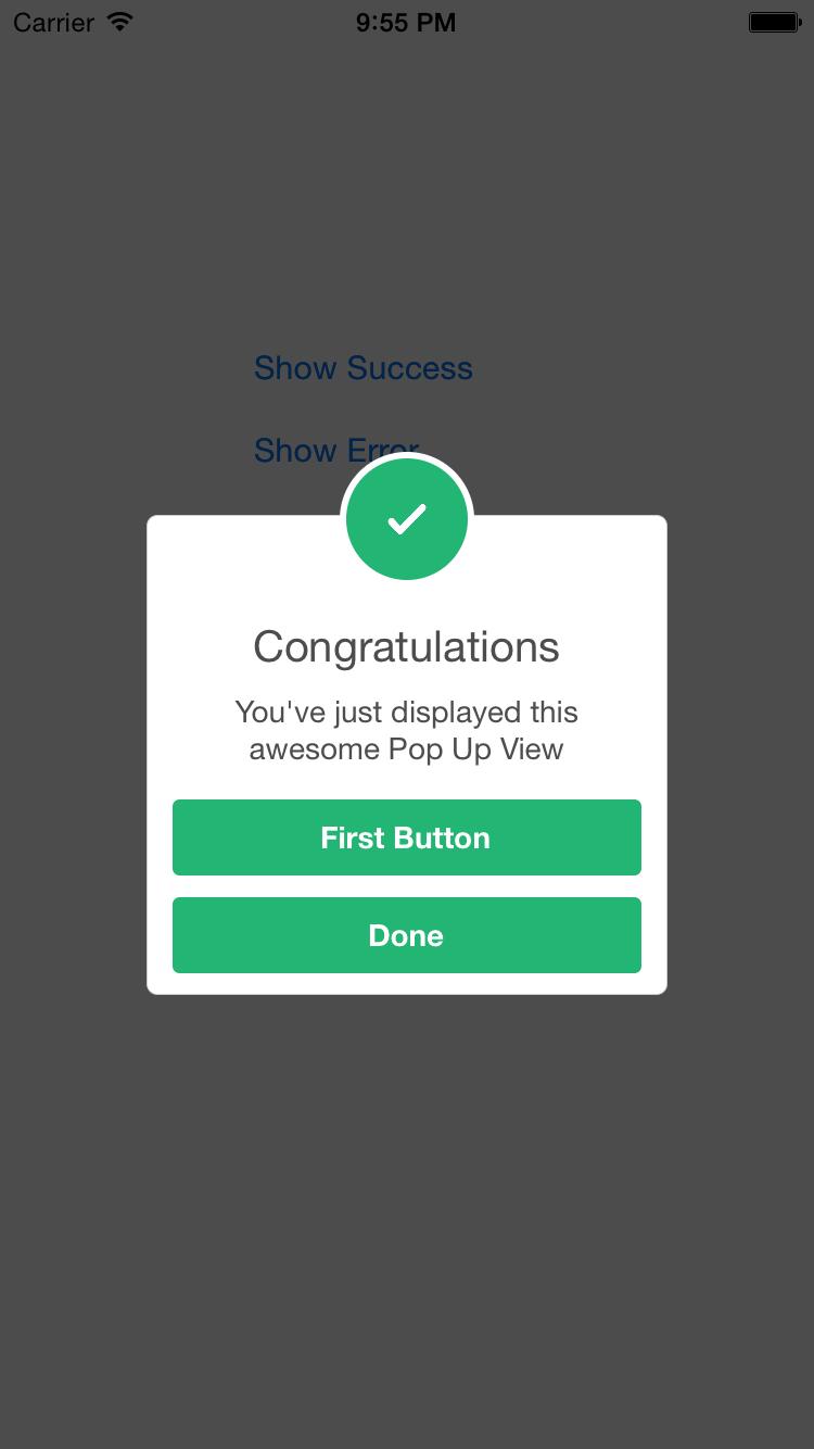 SCLAlertView-Objective-C screenshot
