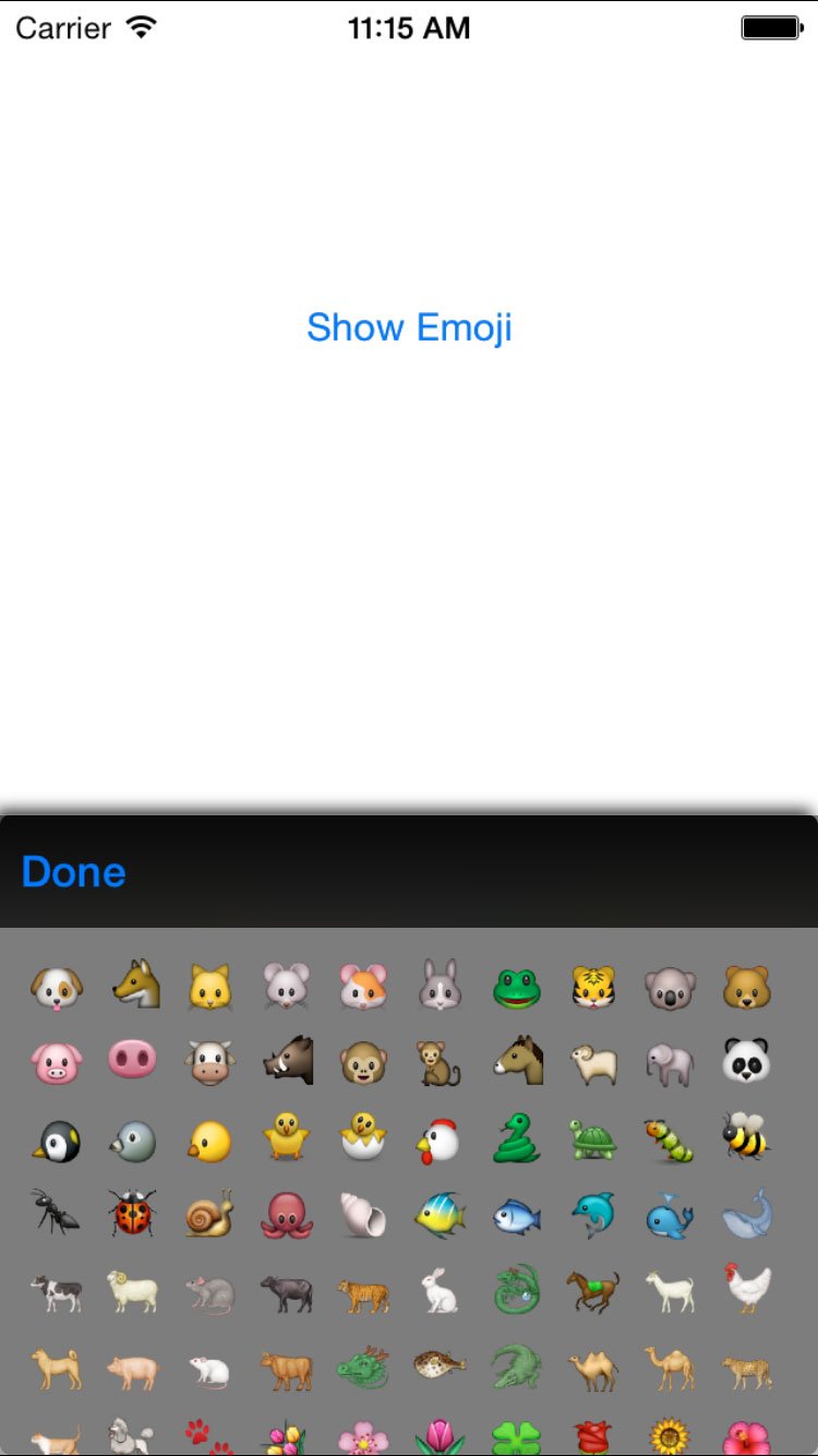 MMP_EmojiPicker screenshot