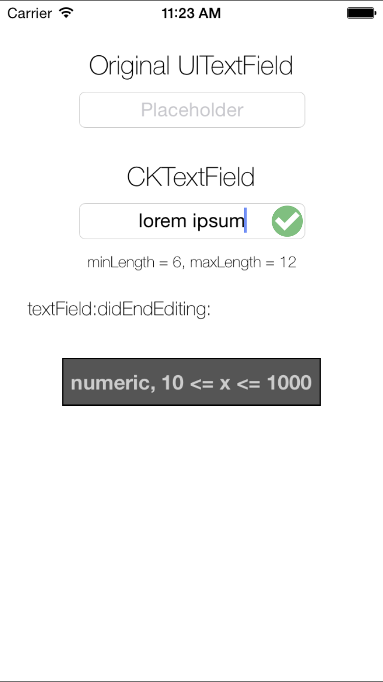 CKTextField screenshot