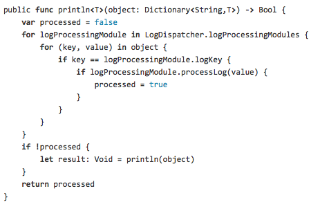 LogDispatcher.Swift screenshot
