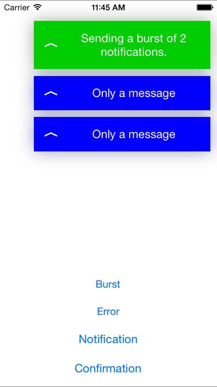 IIShortNotificationPresenter screenshot