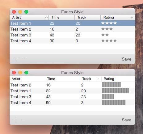 iTunes-Table-Header screenshot