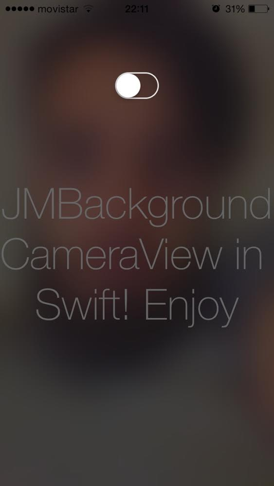 JMSwiftBackgroundCameraView screenshot