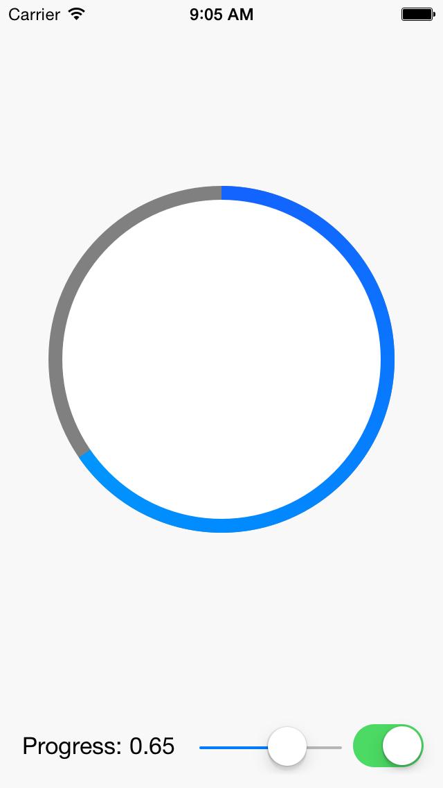 CircleProgressView screenshot