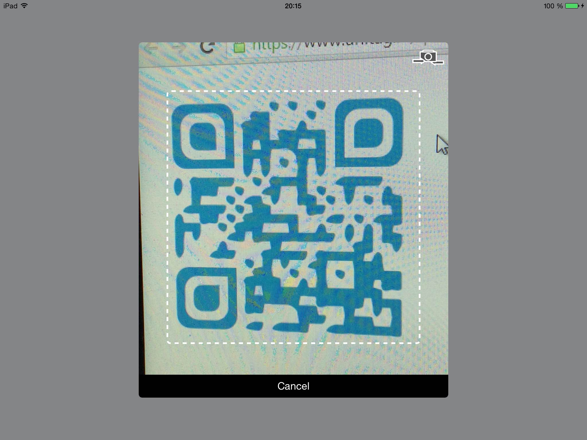QRCodeReaderViewController screenshot