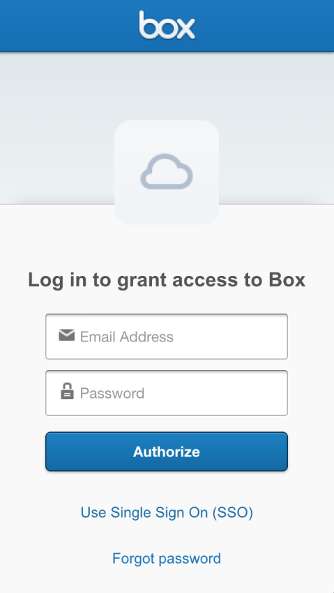 BoxSimpleOAuth screenshot