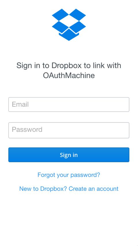 DropboxSimpleOAuth screenshot