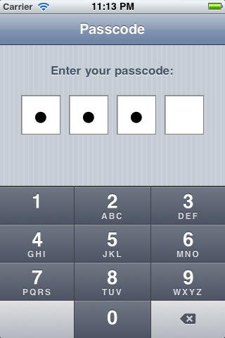 KVPasscodeViewController screenshot