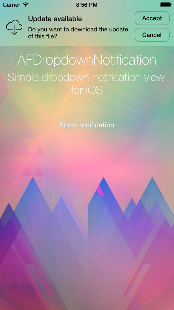 AFDropdownNotification screenshot