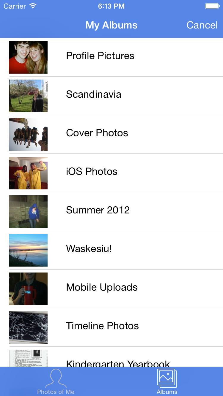 DSFacebookImagePicker screenshot