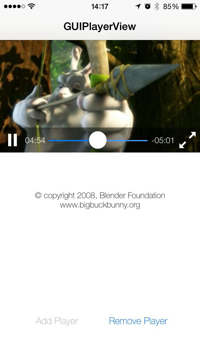 GUIPlayerView screenshot